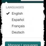 languages-menu